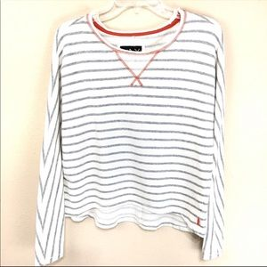 Andrew Marc NY Striped Performance Pullover